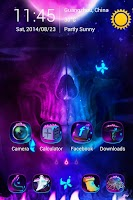 Screenshot of Ghost Fire GO Launcher Theme
