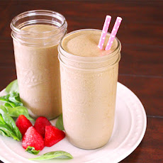 Chocolate Covered Strawberry Green Protein Smoothie