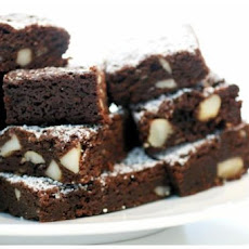 Dark Chocolate Macadamia Brownies