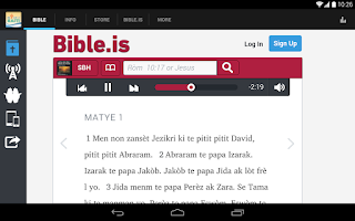 Screenshot of Haitian Bible Society