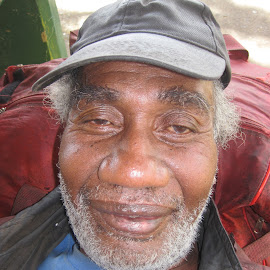 Homeless man in Pago Pago by Veronica Magnusson - People Portraits of Men ( Architecture, Ceilings, Ceiling, Buildings, Building )