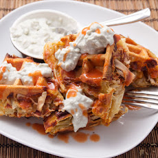 Buffalo Chicken Puff Pastry Waffles