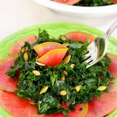 Kale Salad with Quick-Pickled Watermelon Radish