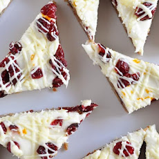Orange Zested Cranberry White Chocolate Bliss Bars