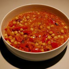 Poriyal (South Indian Chickpeas and Peppers)