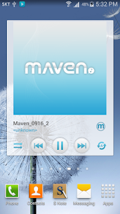 MAVEN Player Blue Widget - screenshot