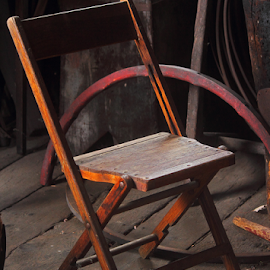 Chair of the Past by Melanie Melograne - Artistic Objects Furniture ( old, old time chair, historic, Chair, Chairs, Sitting )