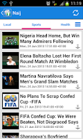 Screenshot of Nigeria News
