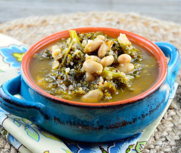 bean soup with kale and turkey italian sausage skillet 30 minute kale ...