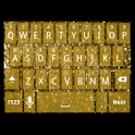 Gold Glitter Keyboard Skin icon