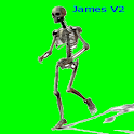 skeleton James running icon
