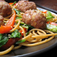 My Version of Rachael Ray's Chinese Spaghetti and Meatballs