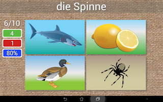 Screenshot of Learn to write German words