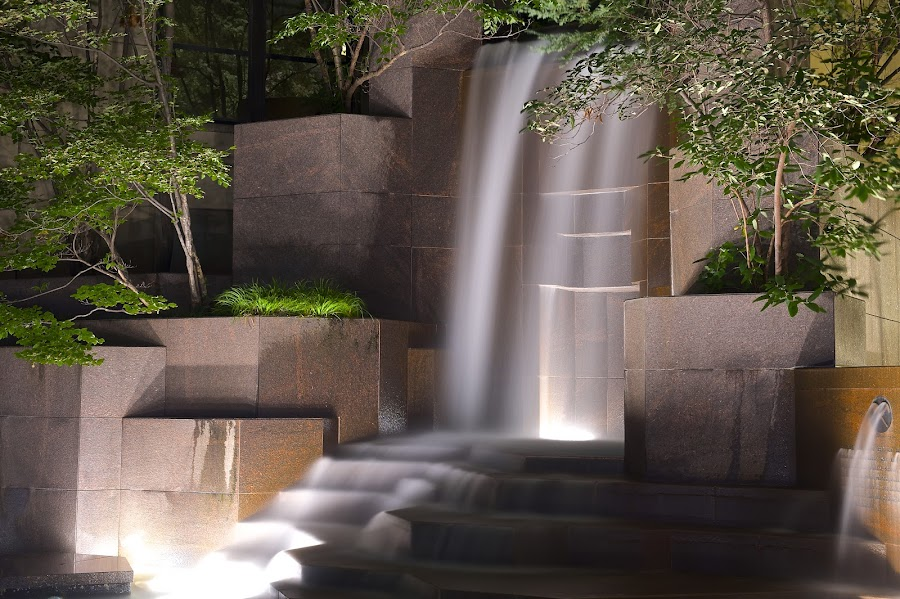Steps by Roy Walter - City,  Street & Park  Fountains ( water fountain, fountain, waterfall, night )