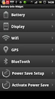 Screenshot of Battery Info Widget