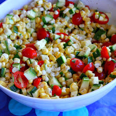 Fresh Corn, Tomato and Zucchini Salad
