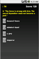 Screenshot of The Empire Strikes Back Trivia