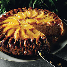 Peach and Pecan Upside-Down Cake