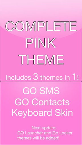 GO SMS Pink Theme + more