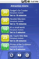 Screenshot of Ride Hopper Park Wait Times