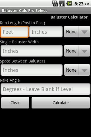 Baluster Calc Pro Select
