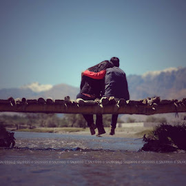 Couple in Valley by Saurabh Jain - People Couples