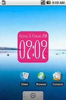 Screenshot of Clock Widget digital 2x2