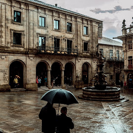 An rain day at Santiago by Pedro Galvao - City,  Street & Park  Street Scenes