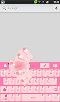 Screenshot of Pink Flowers Keyboard Theme