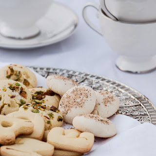 Persian Rose Water and Saffron Cookies