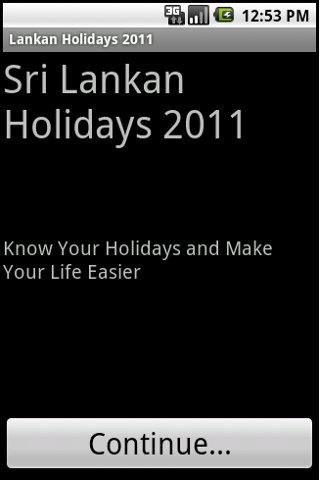 Lankan Holidays 2011