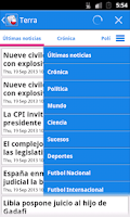 Screenshot of Chile Noticias