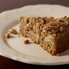 Sour Cream Pear Cake with Pecan Streusel