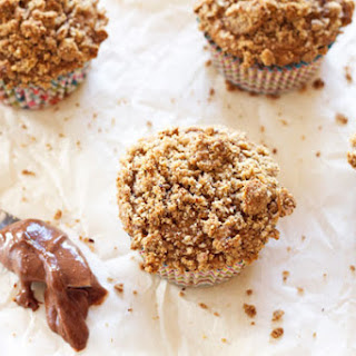Hazelnut Coffee Muffins Stuffed with Nutella + A Giveaway!
