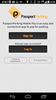 Screenshot of PassportParking Mobile Pay