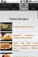 Screenshot of Spaghetti Recipes!