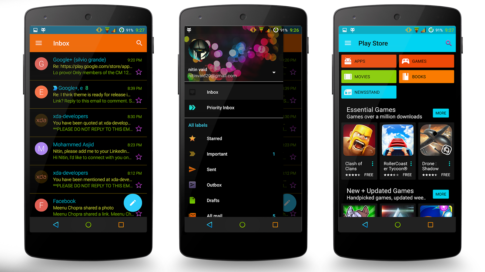 Neon Colors Theme CM 13/12.1 Screenshot 17