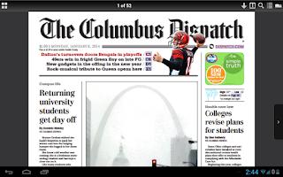 Screenshot of The Columbus Dispatch - Tablet