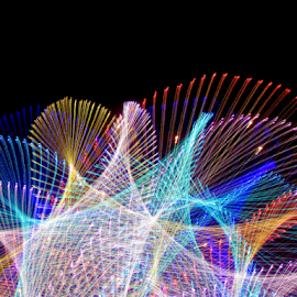 Bottom of the sea ! by Jim Barton - Abstract Patterns ( bottom of the sea, laser light, light design, laser design, sea, laser, ocean, laser light show, light, science )