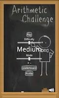 Screenshot of Arithmetic Challenge