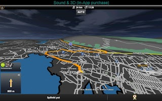 Screenshot of Garmin HUD Europe