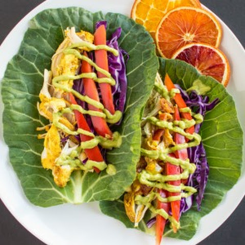 Slow Cooker Curried Chicken Tacos with Avocado Crema