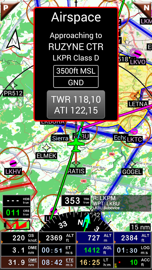 FLY is FUN Aviation Navigation Screenshot 2