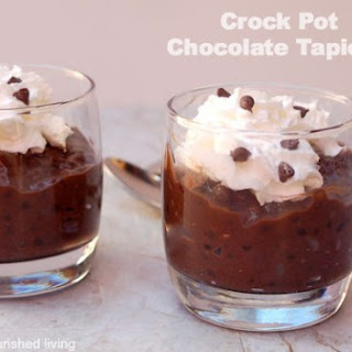 Crock Pot Chocolate Tapioca Pudding