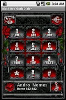 Screenshot of Black Red Goth Dialer