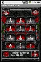 Screenshot of Black Red Goth Dialer