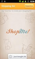Screenshot of ShopMe! one tap shopping list