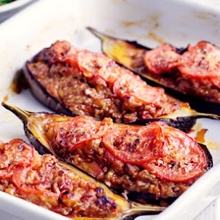Lamb-stuffed Aubergines