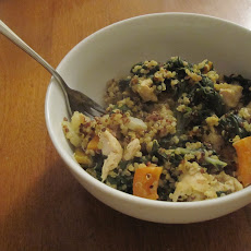 Sweet Potato, Curry, and Quinoa (in a bowl)