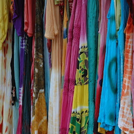 Draped colour by Wayne Paton - Artistic Objects Clothing & Accessories ( abstract, market, colourful, clothes, artistic )